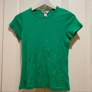 Lilly Pulitzer Tee Green Small Cotton Like New Top